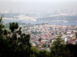 Vue de la colline Camlica rive asiatique