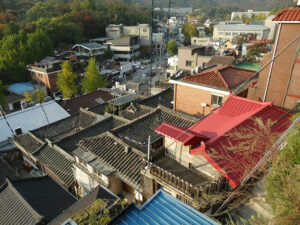 Les toits des Hanok de Bukchon